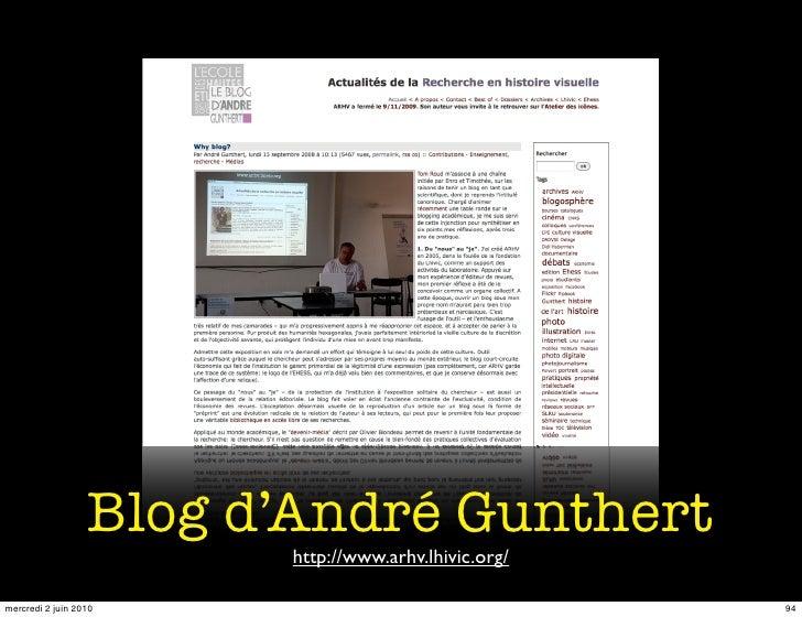 Blog d'André Gunthert                         http://www.arhv.lhivic.org/  mercredi 2 juin 2010                           ...