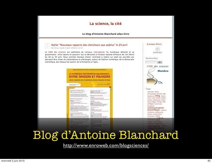 Blog d'Antoine Blanchard                            http://www.enroweb.com/blogsciences/  mercredi 2 juin 2010            ...