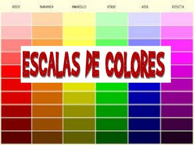 Escalas de colores for De colores de colores