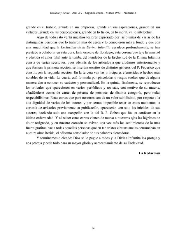 Esclava y Reina - Año XV - Segunda época - Marzo 1933 – Número 3 23 Elevado a la dignidad sacerdotal, dos ideas y dos sent...