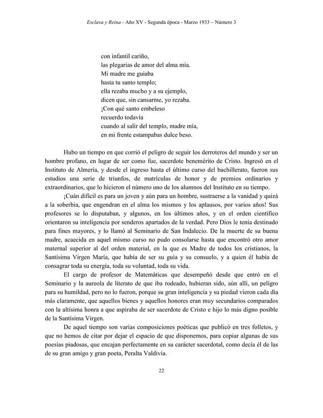 Esclava y Reina - Año XV - Segunda época - Marzo 1933 – Número 3 31 emoción las repetidas veces que, sospechando que el P....