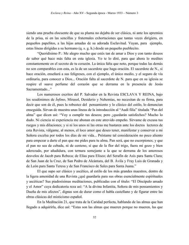 Esclava y Reina - Año XV - Segunda época - Marzo 1933 – Número 3 41 otros tiempos también construyó en el Cabezo (Los Gásq...