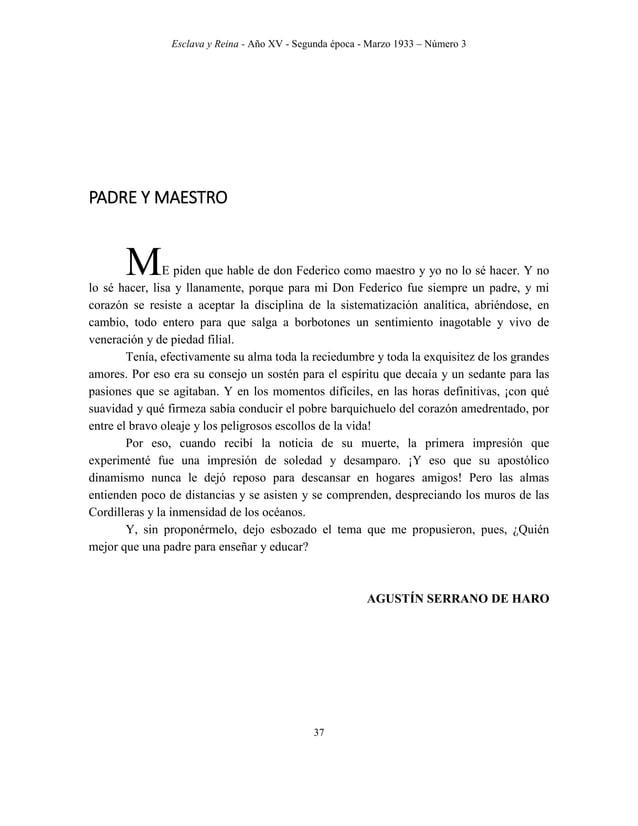 Esclava y Reina - Año XV - Segunda época - Marzo 1933 – Número 3 46 RASGOS O PINCELADAS Constancias en sus planes. – Desde...