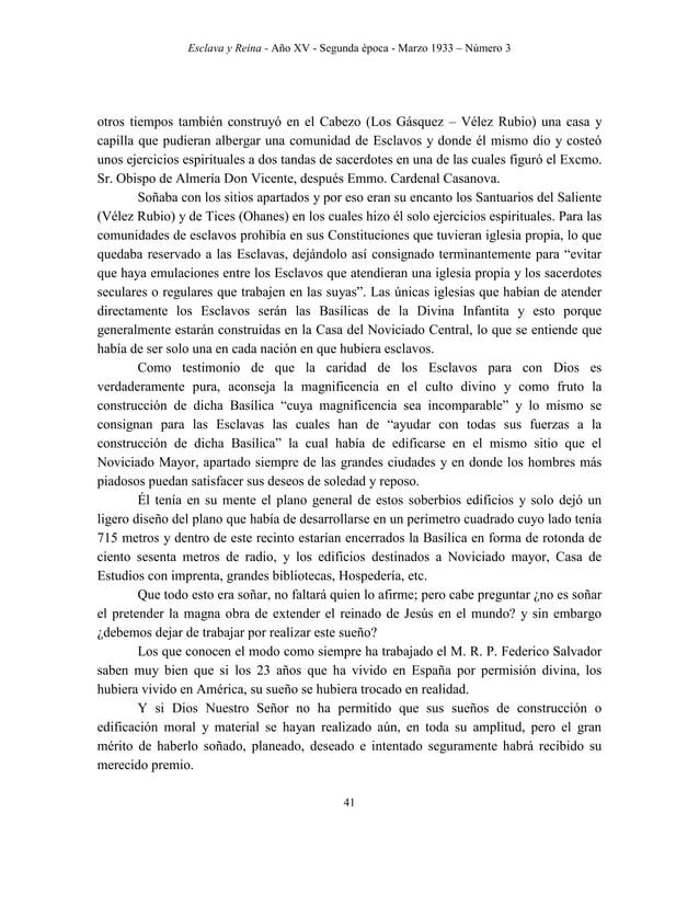 Esclava y Reina - Año XV - Segunda época - Marzo 1933 – Número 3 50 esta importante propaganda periodística, no se limitar...