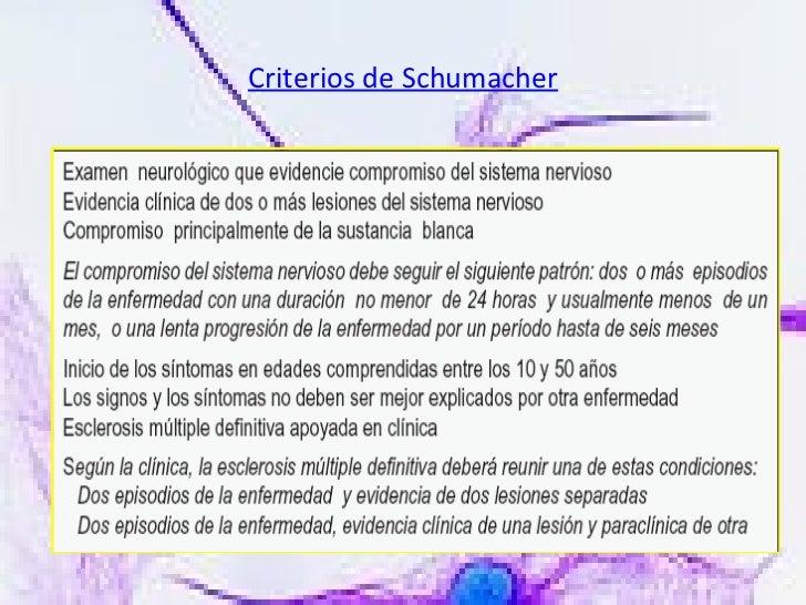 Criterios de Schumacher