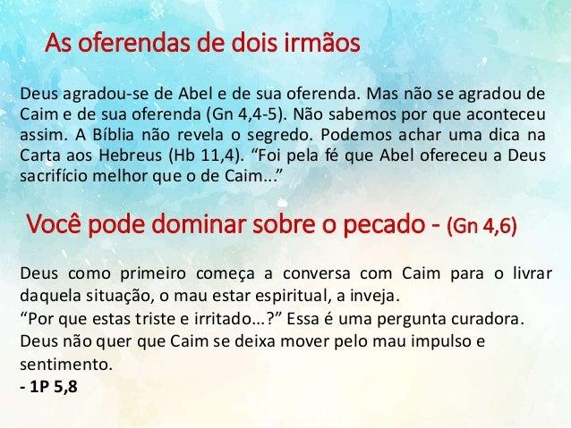 01cc6b583 Caim e Abel. O pecado da inveja.