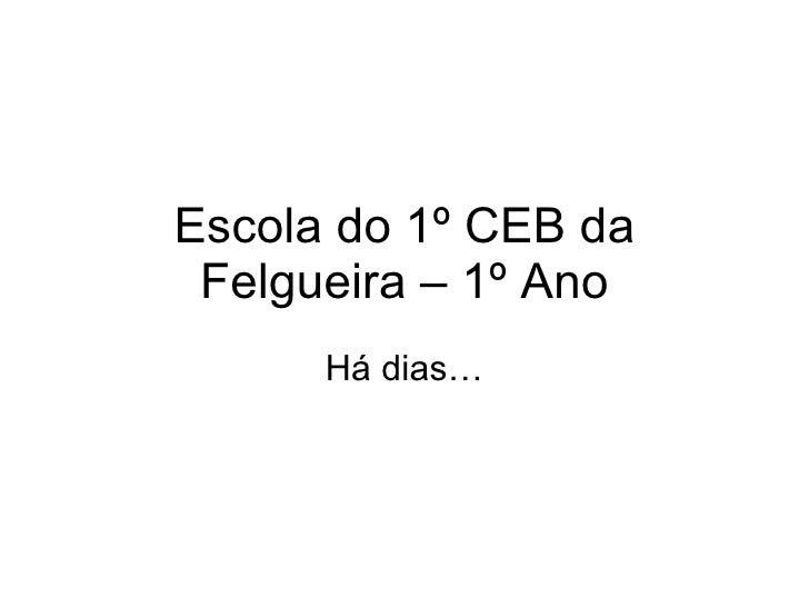 Escola do 1º CEB da Felgueira – 1º Ano Há dias…