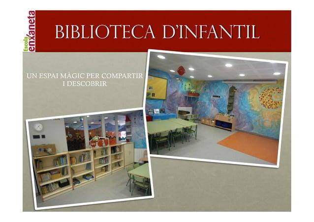 !      Biblioteca d'infantilUN ESPAI MÀGIC PER COMPARTIR         I DESCOBRIR