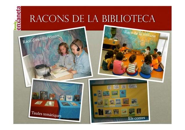 !       RACONS DE LA BIBLIOTECA                                 R a c ó de                                              la...
