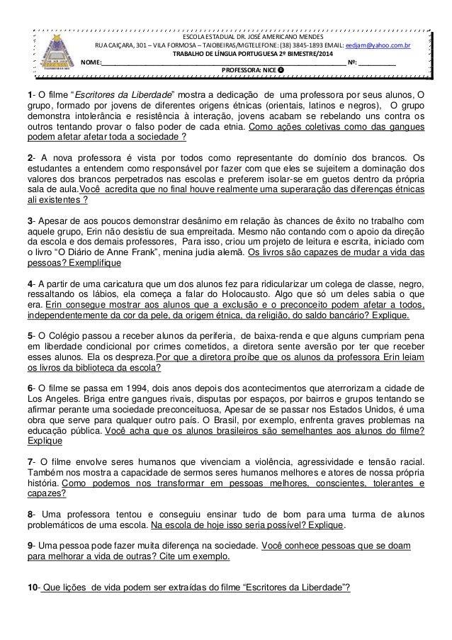 ESCOLA ESTADUAL DR. JOSÉ AMERICANO MENDES RUA CAIÇARA, 301 – VILA FORMOSA – TAIOBEIRAS/MGTELEFONE: (38) 3845-1893 EMAIL: e...