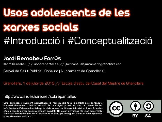 Jordi Bernabeu Farrús @jordibernabeu // @sobrepantalles // jbernabeu@ajuntament.granollers.cat Servei de Salut Pública i C...