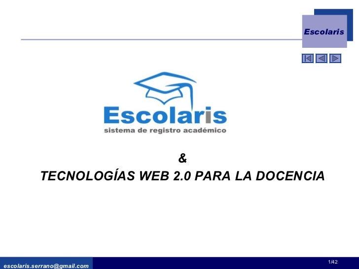 & TECNOLOGÍAS WEB 2.0 PARA LA DOCENCIA [email_address] /42