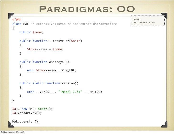 Paradigmas: OO            <?php                                                       Scott                               ...