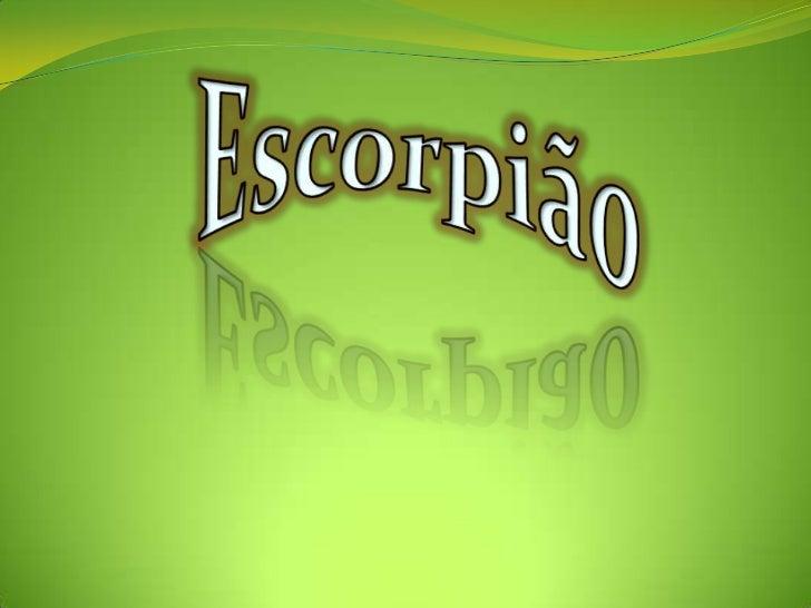 O escorpião, também conhecido por lacrau ou     alacrau, é um animal invertebrado artrópode  (com patas formadas por vário...