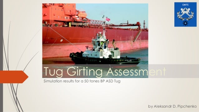 Tug Girting Assessment Simulation results for a 50 tones BP ASD Tug by Aleksandr D. Pipchenko