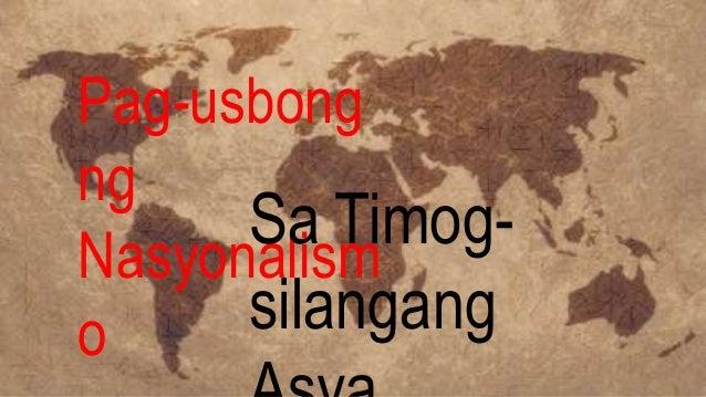 Nasyonalismo sa Silangan at TimogSilangang Asya