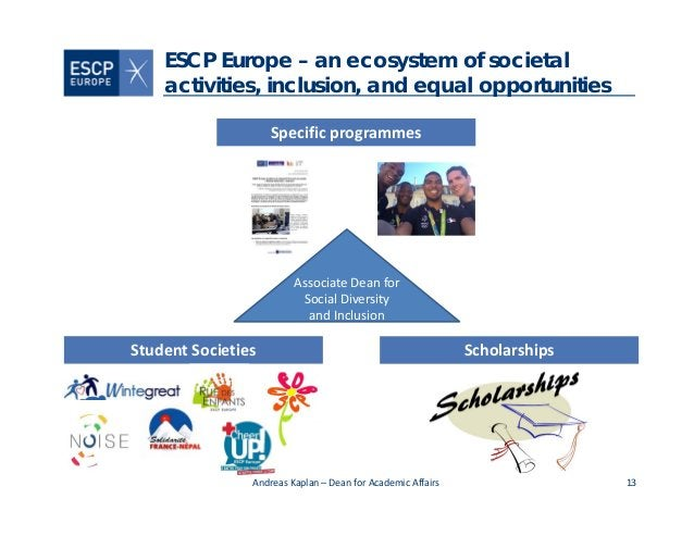 13 ESCP Europe – an ecosystem of societal activities, inclusion, and equal opportunities Scholarships AndreasKaplan– Dea...