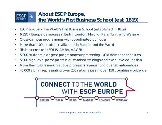 4 About ESCP Europe, the World's First Business School (est. 1819) • ESCP Europe – The World's First Business School (esta...