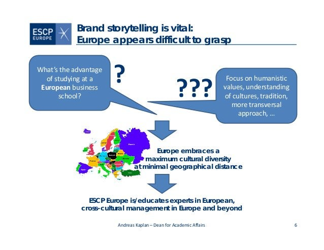 6 Brand storytelling is vital: Europe appears difficult to grasp What'stheadvantage ofstudyingata European business...