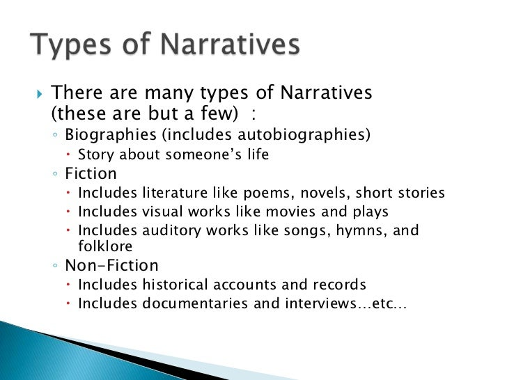 narration types of narration