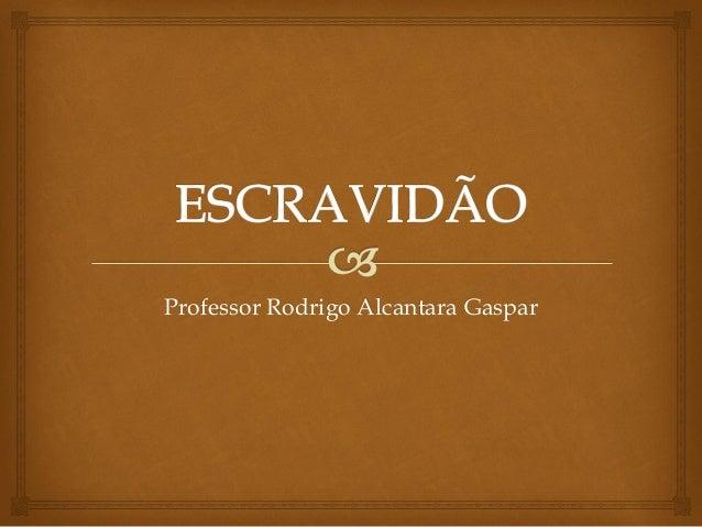 Professor Rodrigo Alcantara Gaspar