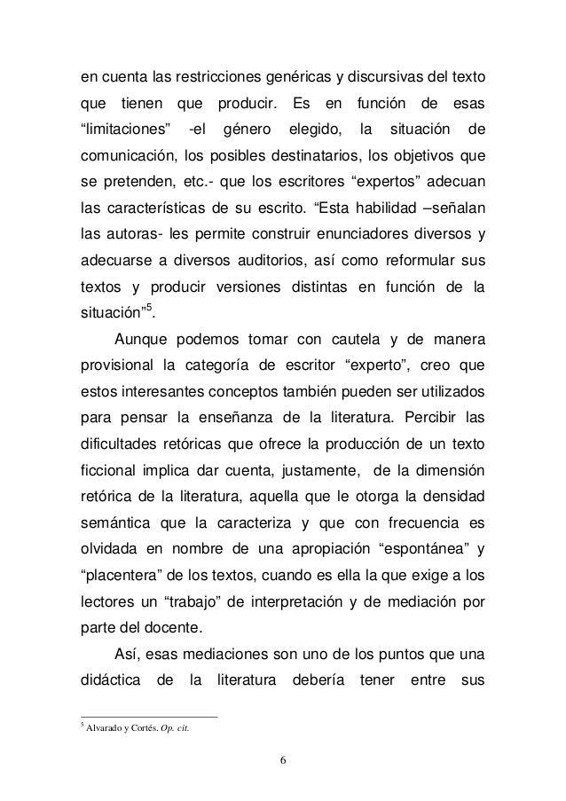 """en cuenta las restricciones genéricas y discursivas del texto  que tienen que producir. Es en función de esas  """"limitacion..."""