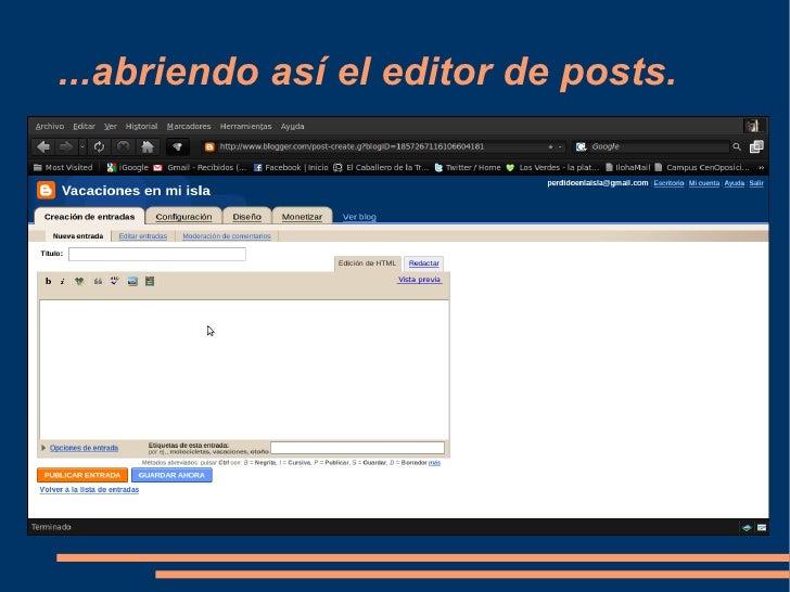 Como escribir un post en un blog Slide 3