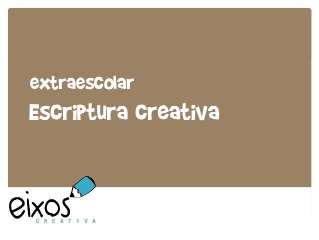 extraescolar Escriptura creativa
