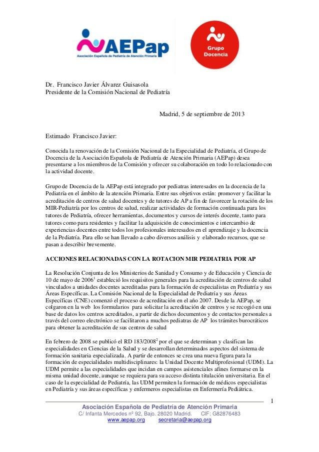 Asociación Española de Pediatría de Atención Primaria C/ Infanta Mercedes nº 92, Bajo. 28020 Madrid. CIF: G82876483 www.ae...
