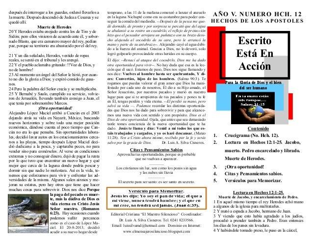 """Escrito  Está En Acción  Para la Gloria de Dios y el bien  del ser humano  Editorial Cristiana """"El Maestro Silencioso"""" Coo..."""