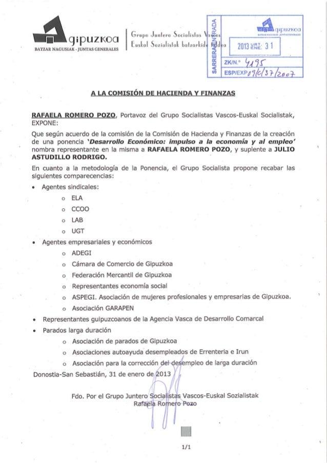 Escrito petición comparecencias PSE-EE