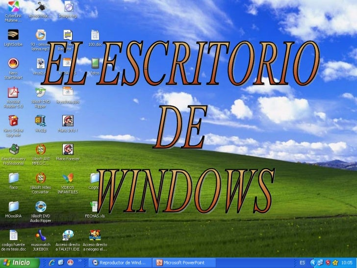 Escritorio de windows for Que es el fondo de escritorio