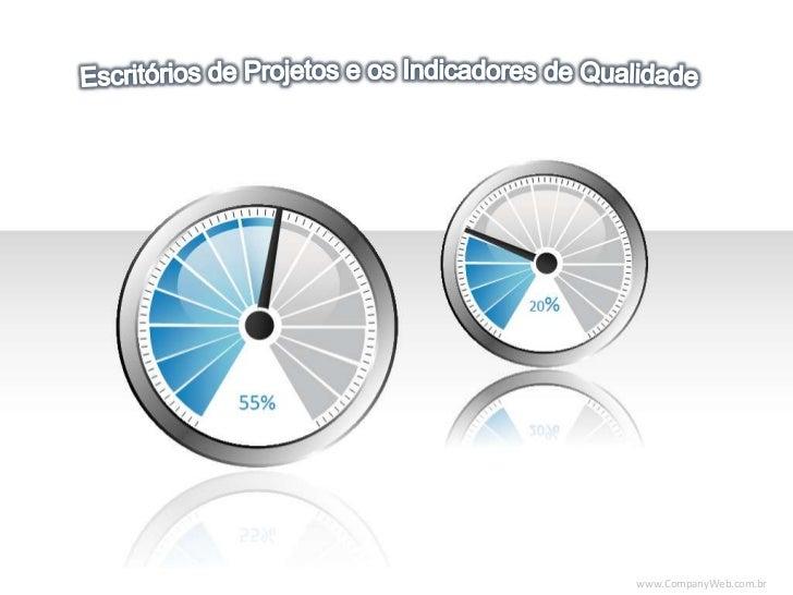 Escritórios de Projetos e os Indicadores de Qualidade<br />www<br />20%<br />55%<br />www.CompanyWeb.com.br<br />