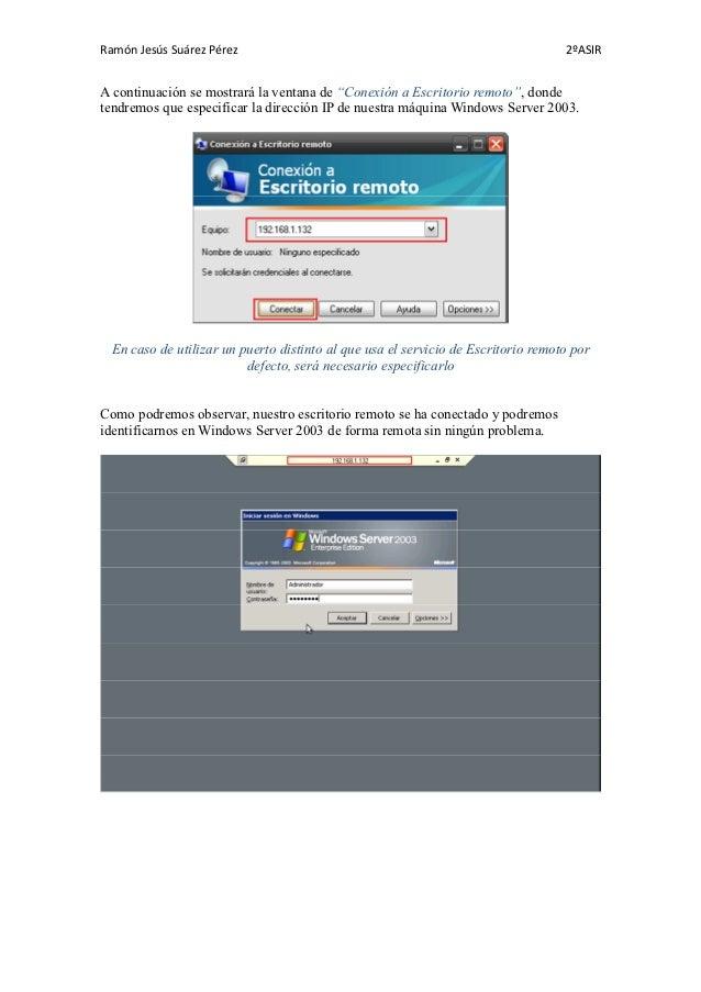 Escritorio remoto con soporte web windows server 2003 - Conexion a escritorio remoto windows xp ...