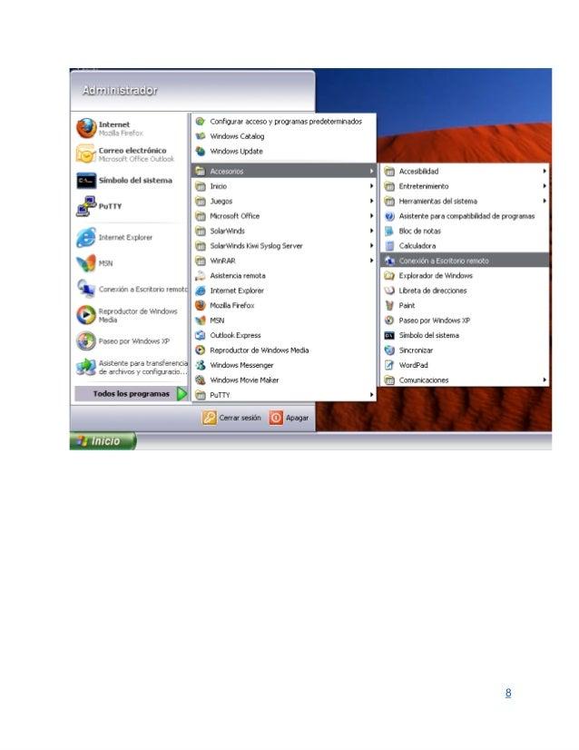 Servicio escritorio remoto en windows server 2008 for Conexion escritorio remoto windows 8
