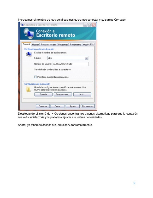 Servicio escritorio remoto en windows server 2008 - Conexion a escritorio remoto windows xp ...