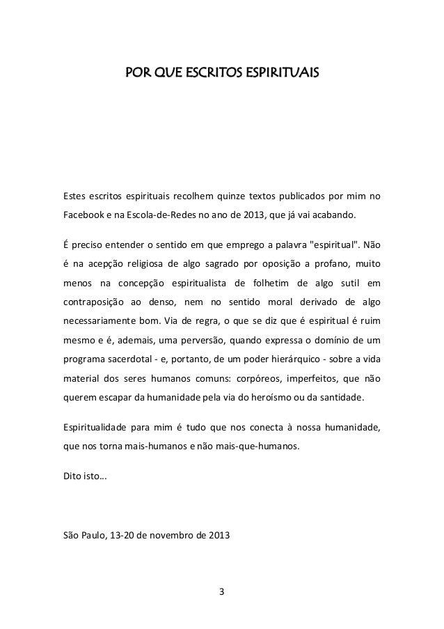 Escritos Espirituais de Augusto de Franco Slide 3