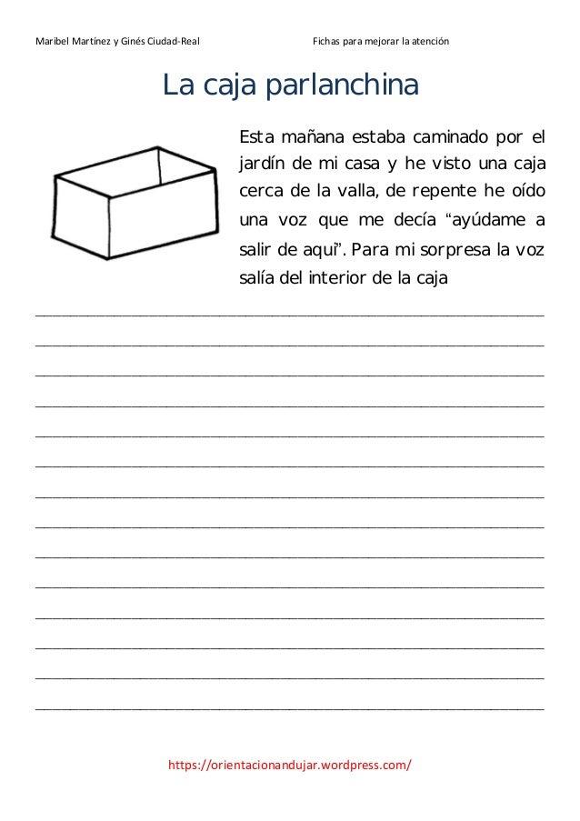 Maribel Martínez y Ginés Ciudad-Real                 Fichas para mejorar la atención                           La caja par...