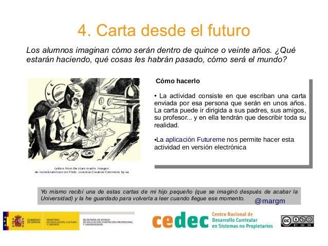 4. Carta desde el futuro Los alumnos imaginan cómo serán dentro de quince o veinte años. ¿Qué estarán haciendo, qué cosas ...