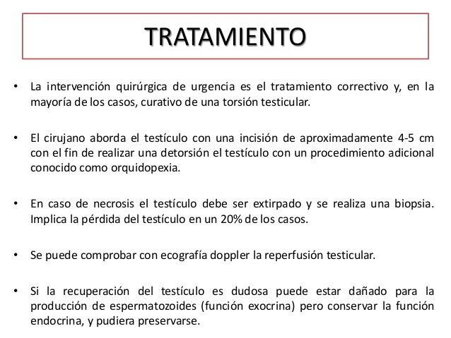 Tratamiento y diagnóstico del escroto agudo en el