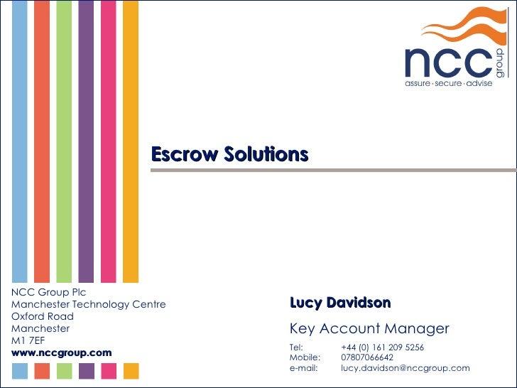 Escrow Presentation