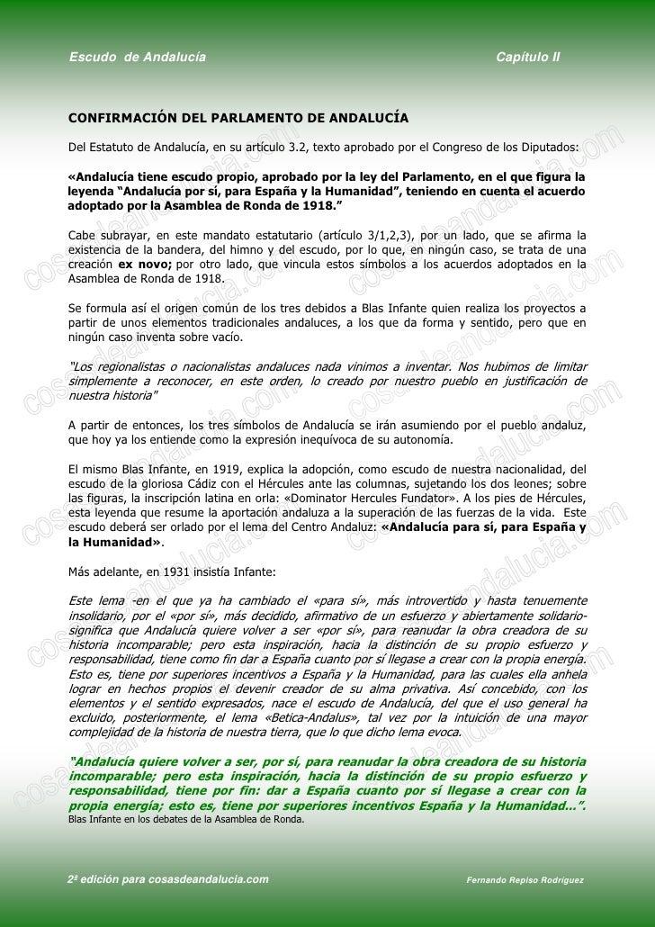 Escudo de Andalucía                                                              Capítulo II    CONFIRMACIÓN DEL PARLAMENT...