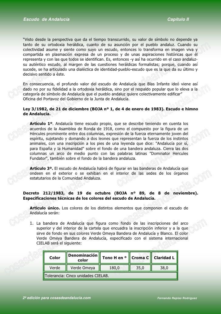 """Escudo de Andalucía                                                              Capítulo II    """"Visto desde la perspectiv..."""