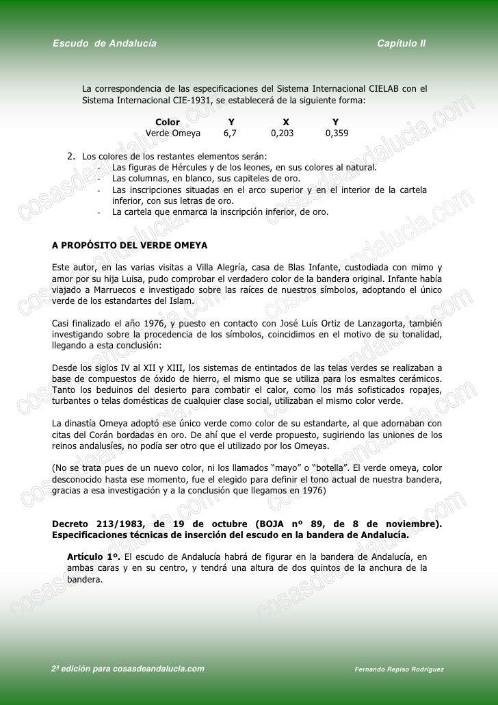 Escudo de Andalucía                                                               Capítulo II           La correspondencia...