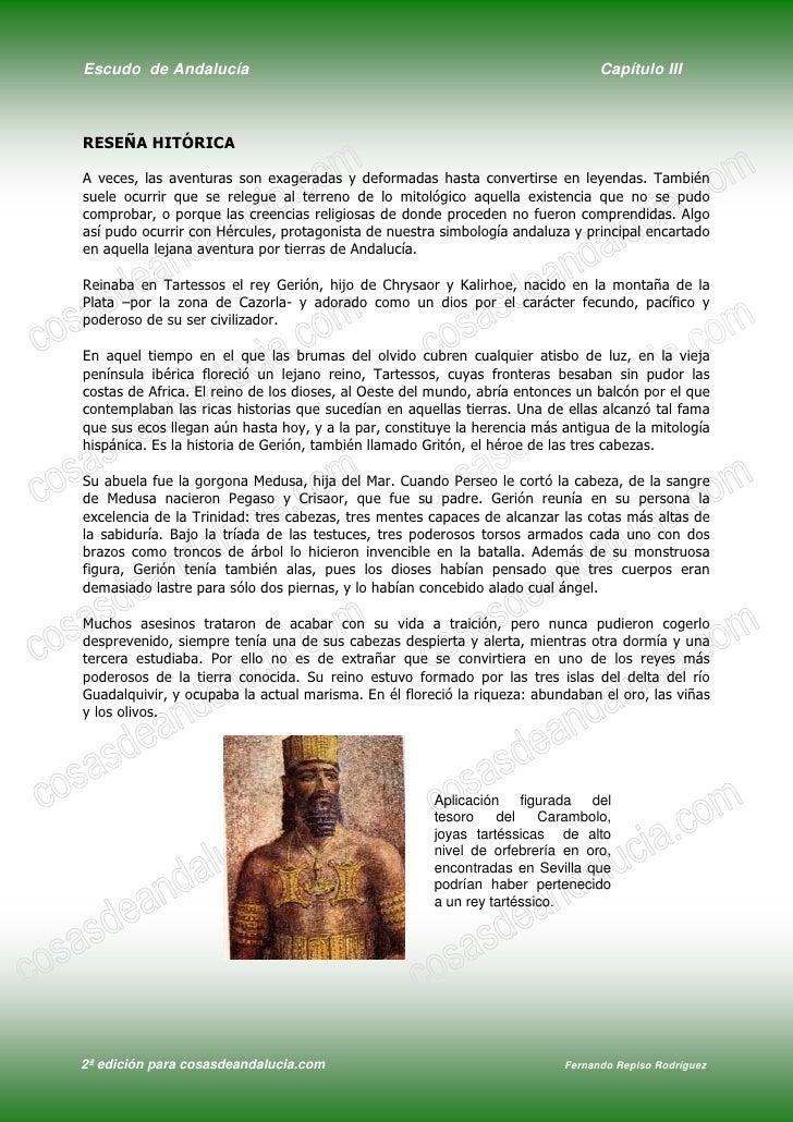 Escudo de Andalucía                                                             Capítulo III    RESEÑA HITÓRICA  A veces, ...