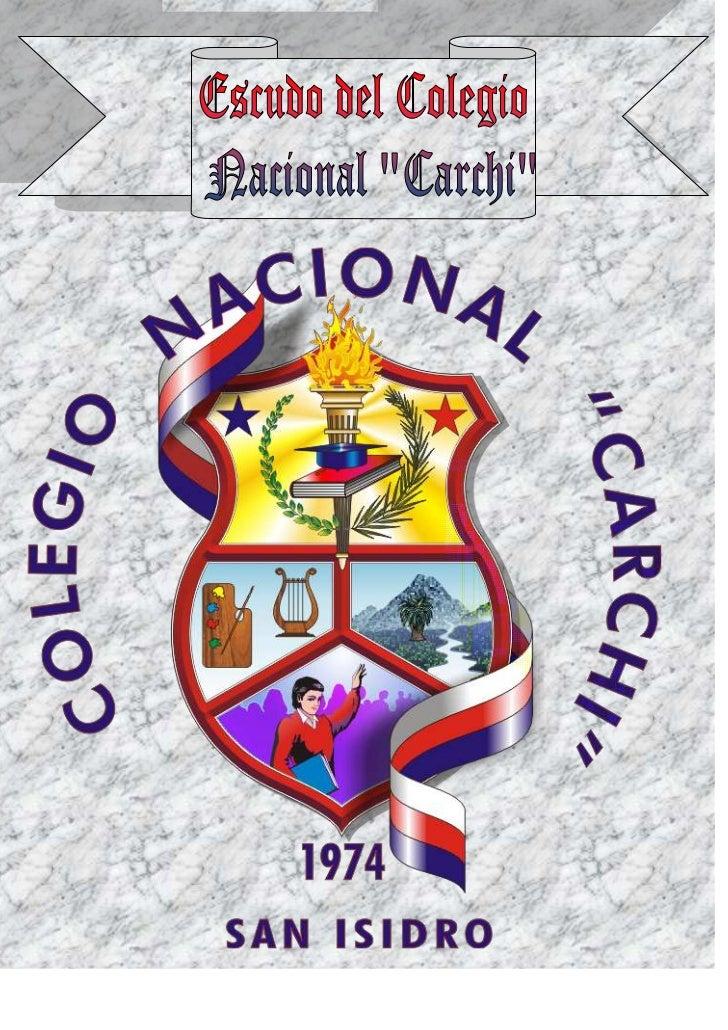 """Escudo del Colegio Nacional """"Carchi"""""""