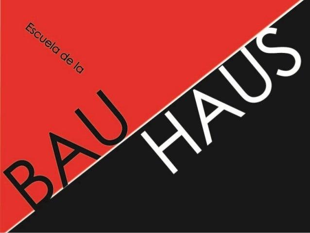 La Bauhaus fue la escuela de diseño, arte y arquitectura fundada en 1919 por Walter Gropius en Weimar, Alemania. Se inició...