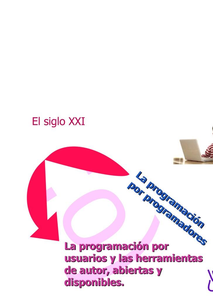 :o) La programación por programadores La programación por usuarios y las herramientas de autor, abiertas y disponibles. El...