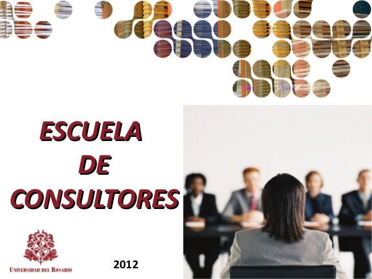 Escuela de consultores  2012