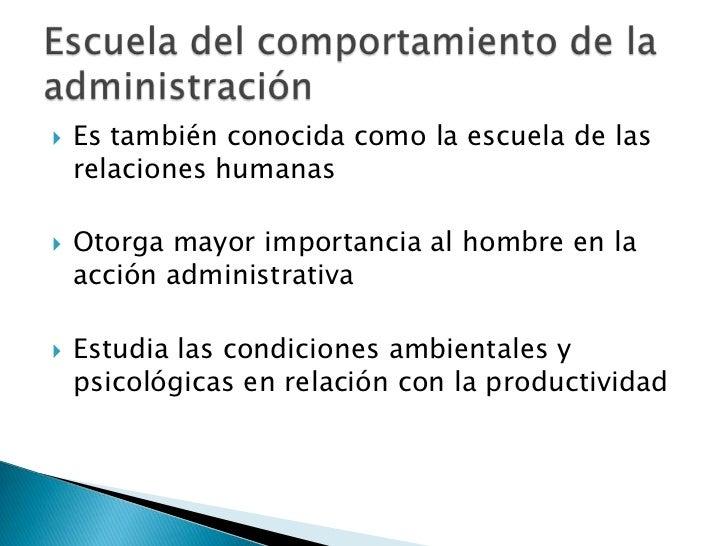 Escuela del comportamiento de la administraci n for Importancia de la oficina